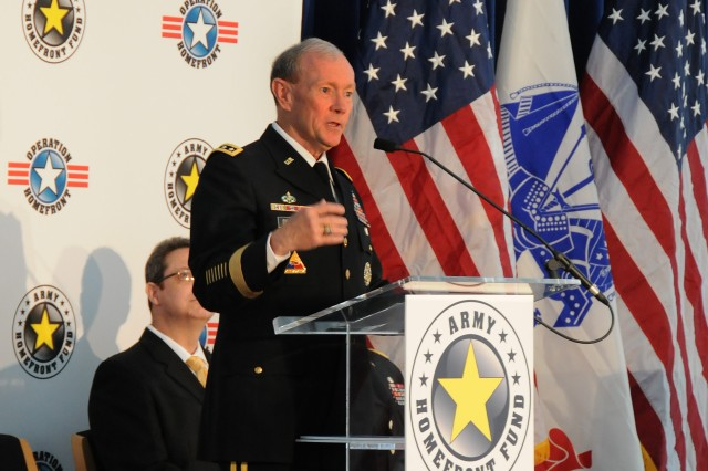 "Chief of Staff of the Army Gen. Martin Dempsey said the Operation Homefront Fund, launched June 13, 2011, is ""probably the best thing to happen during this Army birthday week."""
