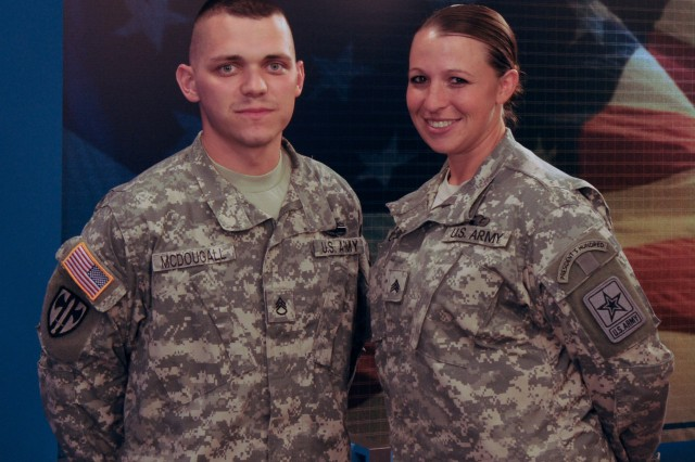Staff Sgt. Christopher M. McDougall was named the Army's 2010 Noncommissioned Officer of the Year, and Sgt. Sherri Gallagher is the Army's 2010 Soldier of the Year.