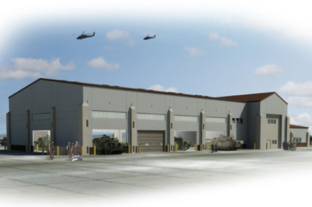 A new tactical equipment maintenance facility, like the one pictured in this Corps of Engineers image, is planned for Army Field Support Battalion - Bliss at Fort Bliss, Texas.