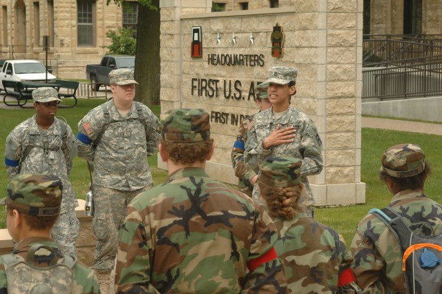 "Military Explorers ""Explore"" First Army Headquarters"