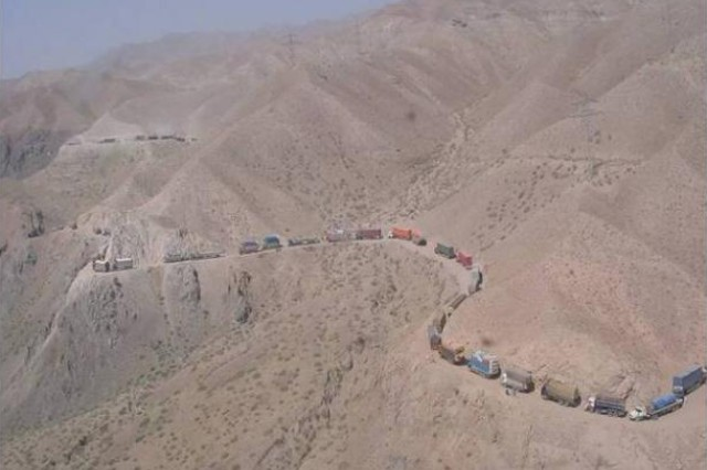 Supply convoy in Afghanistan