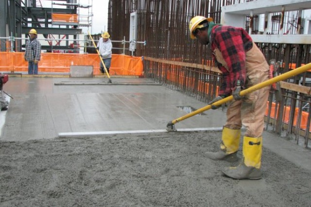 Craft workers completed the initial second-lift concrete placement at the Munitions Demilitarization Building. The Munitions Demilitarization Building is where the chemical weapons will be disassembled, explosives removed and the agent neutralized.