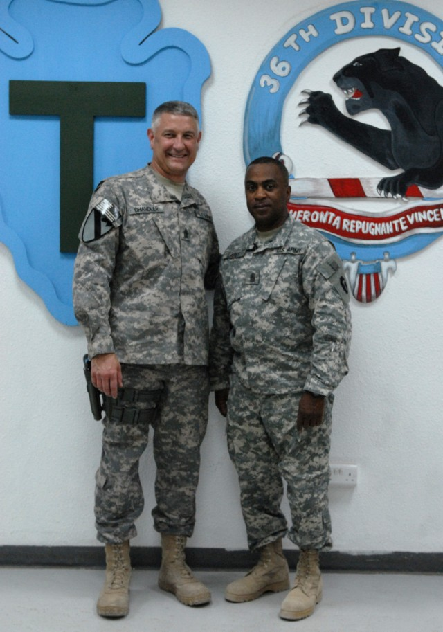Sergeant Major of the Army visits the 36th Inf. Div.