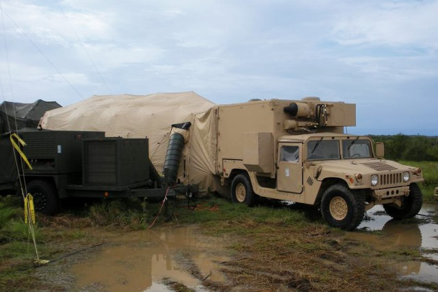 Shown here, the Mobile Port Operations Center, or MPOC, is a vehicle-mounted operation center designed to support initial SDDC communication systems requirements at more austere, Outside-the-Continental-United States, secondary port missions during small-scale, short-duration contingencies, exercises or troop deployments.
