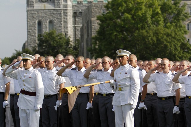 Reception Day for the Class of 2015 concluded on June 27, 2011, with an oath ceremony on the Plain. The new cadets are currently engaged in a six-week Cadet Basic Training after which they will be accepted into the Corps of Cadets.