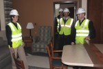 Adm. Brown tours Bethesda Wounded Warrior Barracks