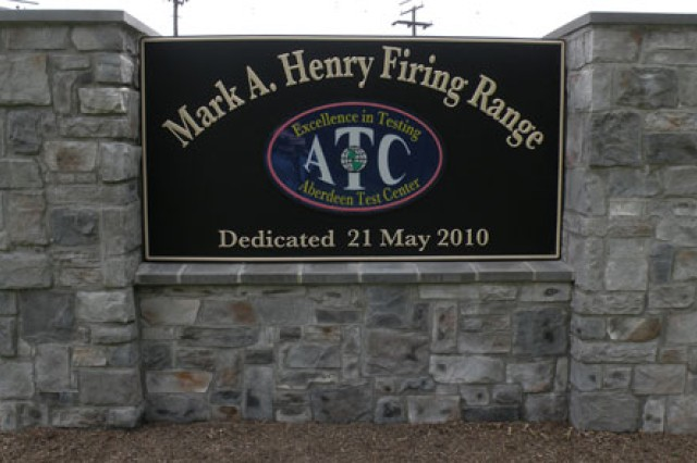 A firing range at the Edgewood Area of Aberdeen Proving Ground, Md., was renamed for the commander of the tank.