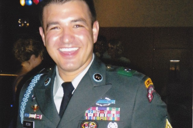 Staff Sgt. Petry at the 2009 Ranger Ball in Tacoma, Wash.