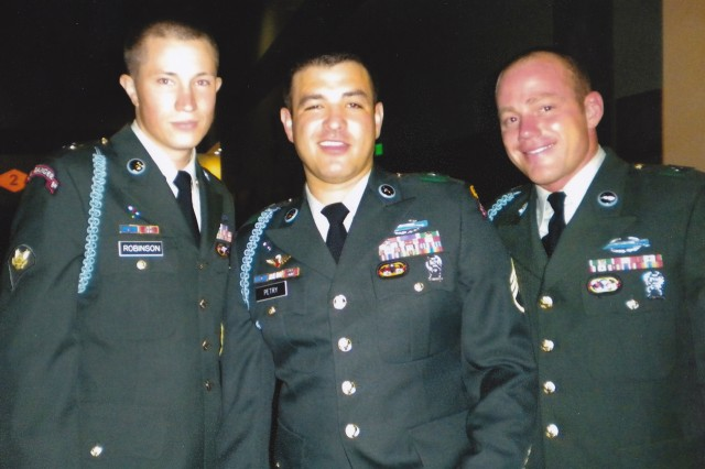 Spc. Robinson, Staff Sgt. Petry, Spc. Dyhre at the 2009 Ranger Ball.