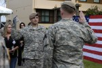 Re-enlistment ceremony