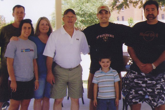 Family visiting Brooke Army Medical Center in San Antonio, Texas, July of 2008.
