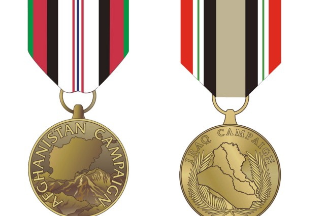Bronze campaign stars are now authorized for servicemembers who have served in Iraq since Sept. 1, 2010, or in Afghanistan since Dec. 1, 2009.