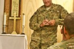 Chaplain gives final sermon from Afghanistan
