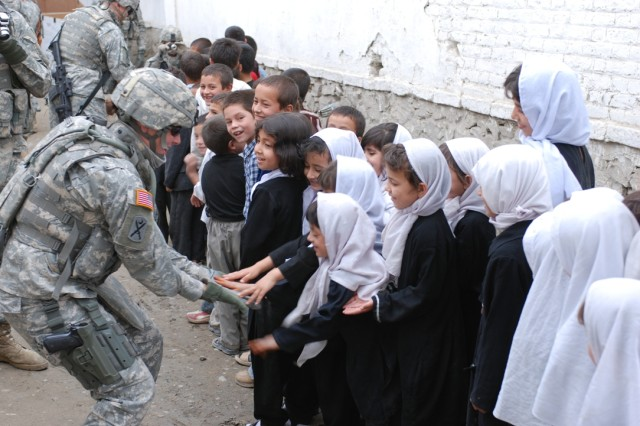 Innovative Female Engagement Team training materials added recently on the Army Training Network (https://atn.army.mil) are designed to help deploying female Soldiers adapt to local customs and improve their interactions with Afghan women. (U.S. Army photo)
