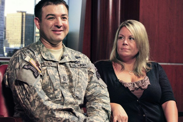 Sgt. 1st Class Leroy Petry and his wife Ashley discuss how he has adjusted to life with his prosthetic hand.