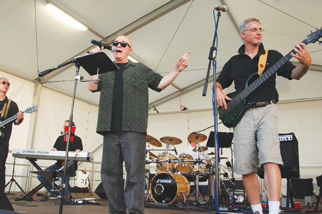 MaxFracas takes the stage during U.S. Army Garrison Stuttgart's July 4 celebration on Patch Barracks.