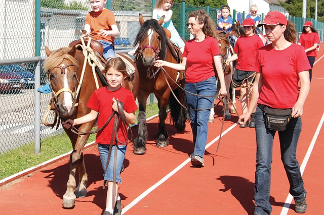 Pony rides were offered to community children during U.S. Army Garrison Stuttgart's July 4 celebration on Patch Barracks.