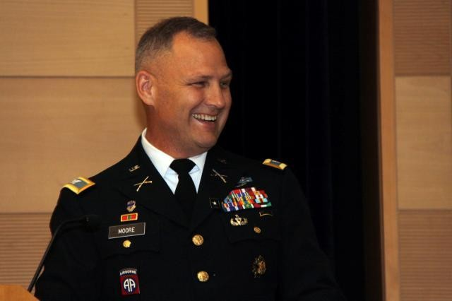Col. David Moore retired from the Army after 32 years of service.