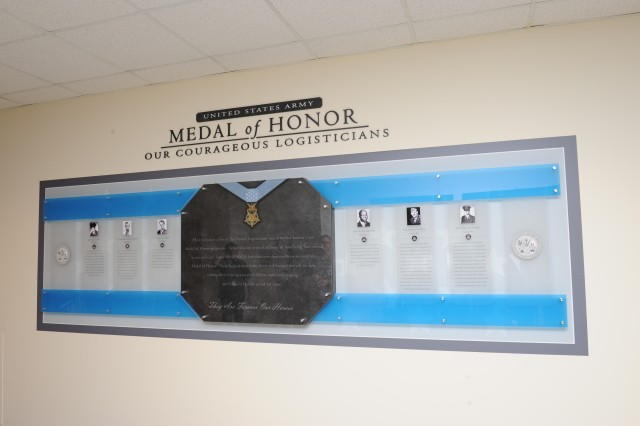 The Medal of Honor display unveiled by the Office of the Deputy Chief of Staff, G-4 on July 12, 2011.  The display is located in the Pentagon, first floor, third corridor between rings C and D.