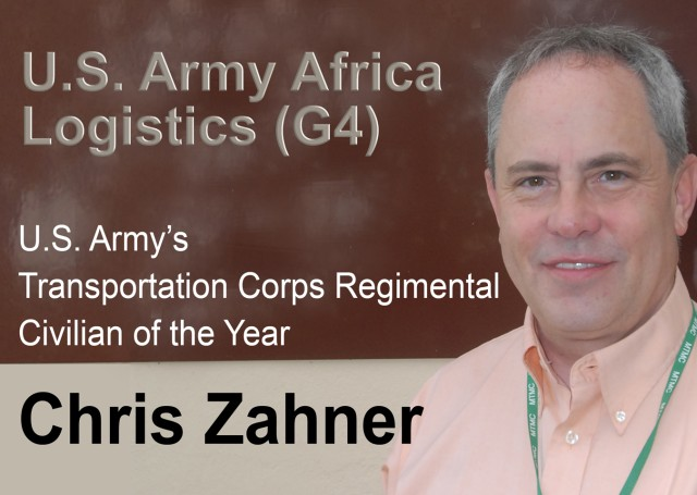 Chris Zahner, U.S. Army Africa's Logistics Office Chief of Surface Transportation