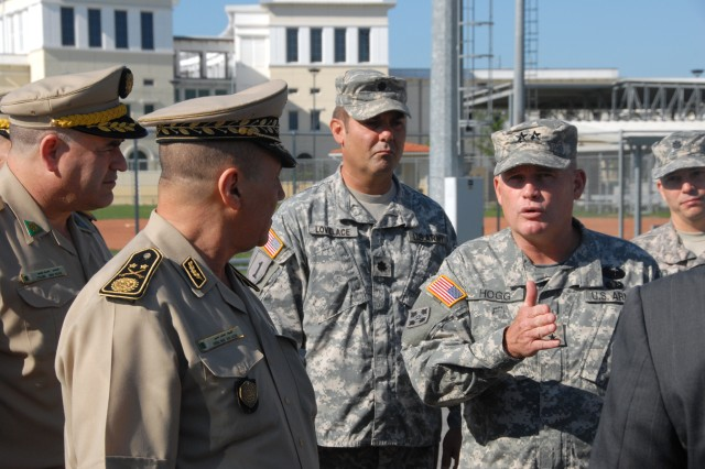 Major General Tafer Ahcene the Algerian Land Forces Commander visits U.S. Army Africa in Vicenza Italy.