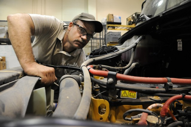 Edgewood Chemical Biological Center engineering technician Mike Ball works on transforming the STEM Asset.