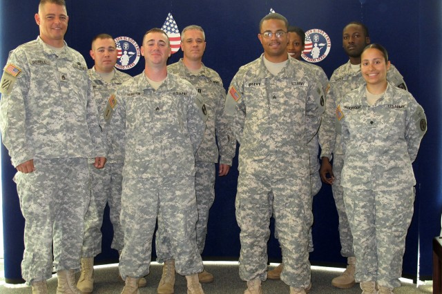 Members of the 432nd Blood Support Detachment and their trainers.