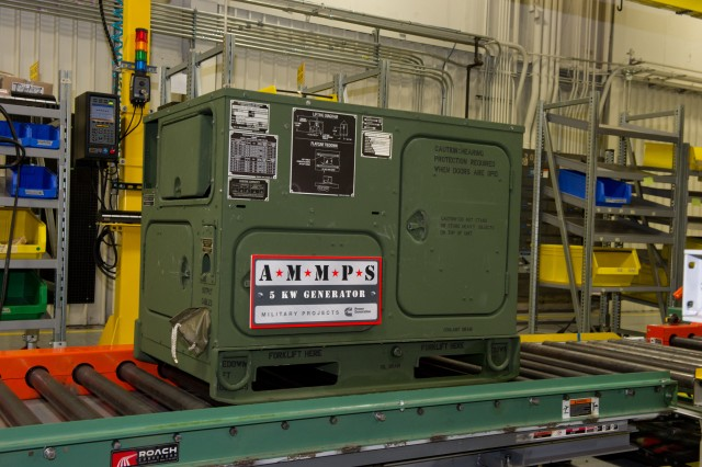 The U.S. Army will soon produce and deploy its next generation of tactical generators to Afghanistan, a move expected to save 300,000 gallons of fuel each month. Pictured is a 5 kW Advanced Medium Mobile Power Sources (AMMPS) generator.