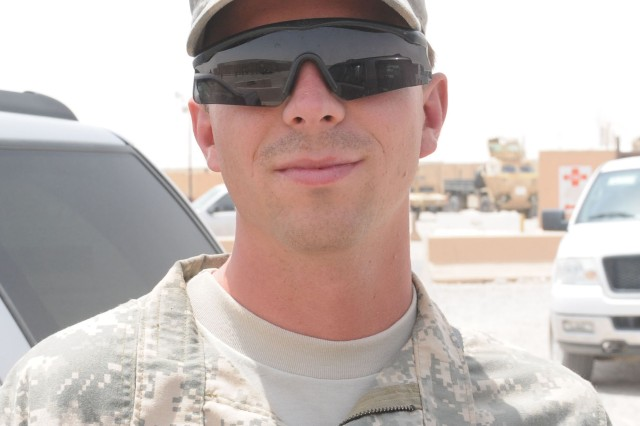 "Specialist James Hubbard, petroleum supply specialist, Company E, 1st Battalion, 5th Cavalry Regiment, 2nd Advise and Assist Brigade, 1st Cavalry Division, from Arab, Ala.: ""Staying in battle buddy teams is too easy. Most of the time, your battle buddy is a friend and you want somebody to hang out with anyway."""