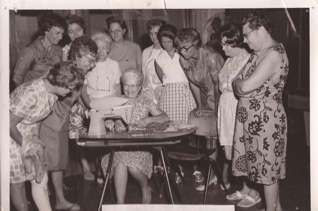 Schofield Barracks Army Community Service conducts a sewing class in this photo taken in the 1960s. Today's ACS offers a variety of classes that cover subjects such as financial planning. Historical photos depicting ACS through the decades are being displayed at the ACS birthday celebration, July 25, at the Schofield Barracks ACS.
