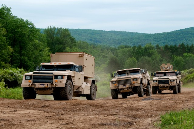 Three different mission types of Joint Light Tactical Vehicles are driven offroad during the Technology Development phase which concluded in May 2011.