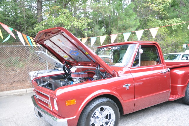 This Chevrolet was one of 95 cars and trucks entered in Saturday's Autocraft Car and Bike Show.