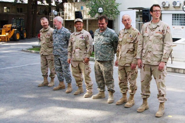 Members of the award winning Afghanistan Engineer District-North Project Development Team.