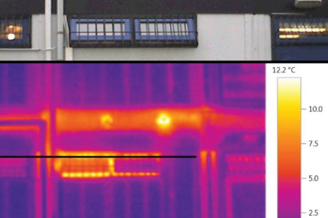 Building Energy Monitors used infrared photos  to learn where energy use was spilling, literally, out the window, enabling Building Energy Monitors to improve insulation or change habits to curb energy use.