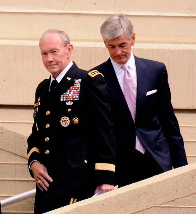 Gen. Dempsey and Sec. McHugh at Army Birthday