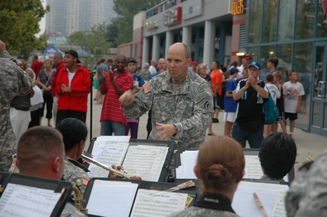 42nd Infantry Division Band Performs at Coney Island Ballpark