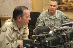 Mullen talks security at Ninewa Combined Coordination Center