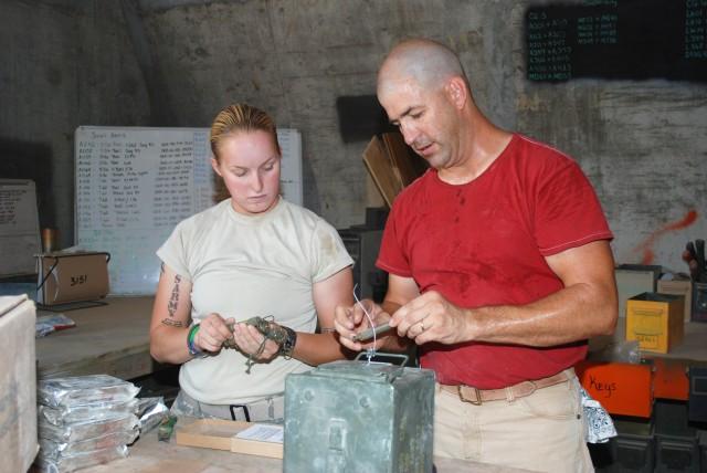 JMC ammunition experts train Soldiers at Joint base Balad, Iraq.