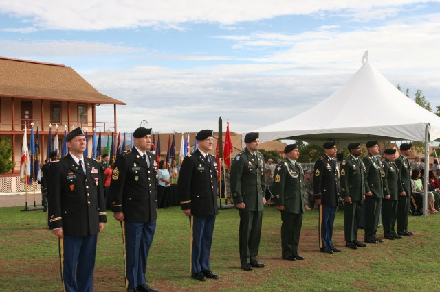 Ten Soldiers were honored Friday during a retirement ceremony held on Fort Huachuca's historic Brown Parade Field. The retirees have a combined total of 223 years of Army service.