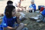 Kids enjoy an MRE