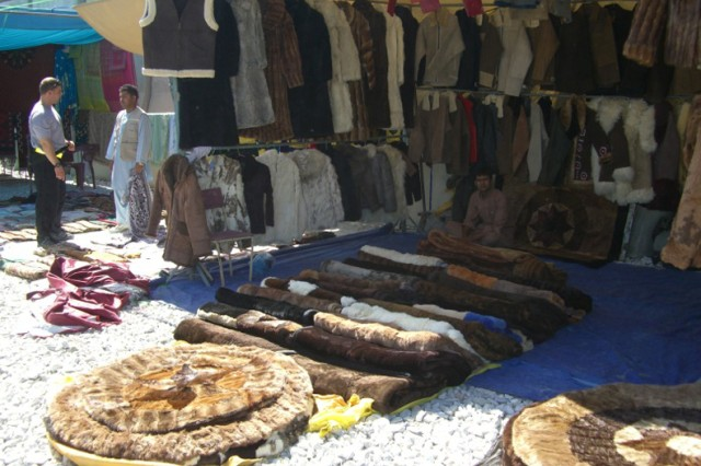 Some items sold in Afghan markets are often illegally produced from endangered wildlife.