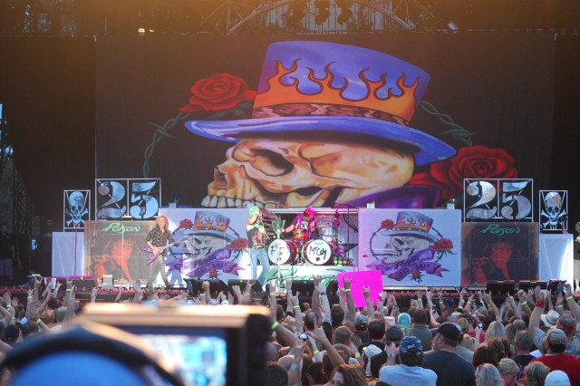 Poison rocks a sellout crowd at the Army Concert Tour performance at Fort McCoy Aug. 5.