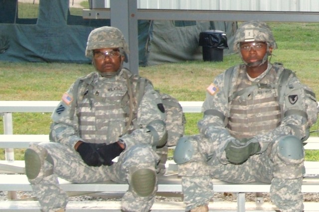 At this year's ASC Best Warrior Competition, Staff Sgt. Robert Wilkins (left) won the NCO category and Spc. Calvin Williams (right) won Soldier category. The competition was held at Rock Island Arsenal June 27-30.
