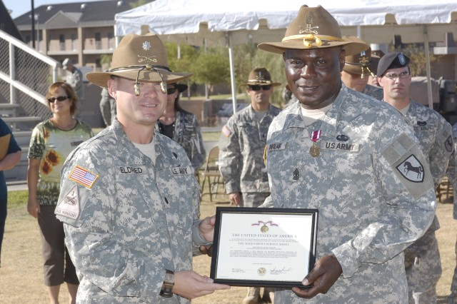 Outgoing Maintencance Troop first sergeant receives MSM | Article ...