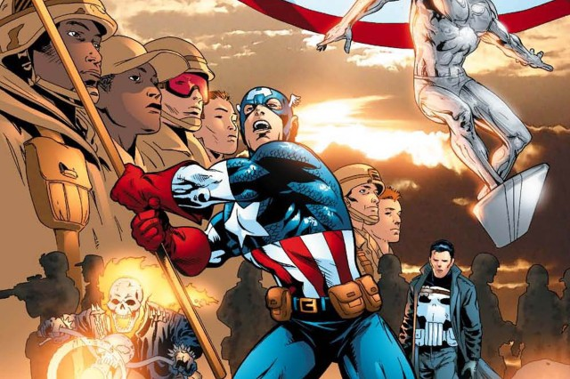 This is the cover of the fourth New Avengers comic that was released to Army & Air Force Exchange Service locations in 2006.