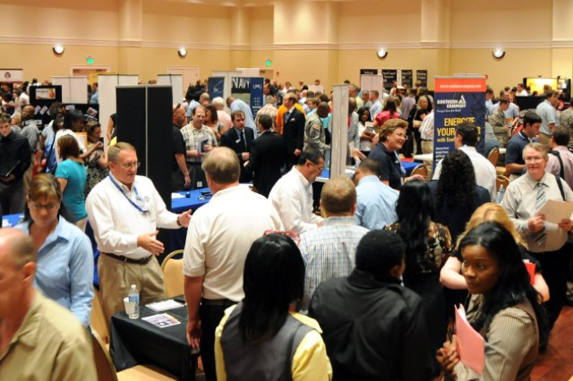 More than 2,500 jobseekers arrived at the Enterprise civic center Aug. 17 for the eighth annual Fort Rucker Area Job Fair.
