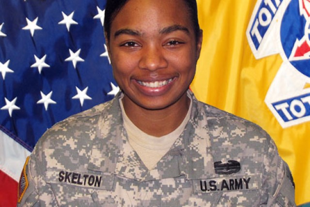Staff Sgt. Tiffany Skelton is alive today because her chain of command at Headquarters and Headquarters Company, Human Resources Command-St. Louis, realized she was suicidal and banded together to support her and get her treatment in 2009.