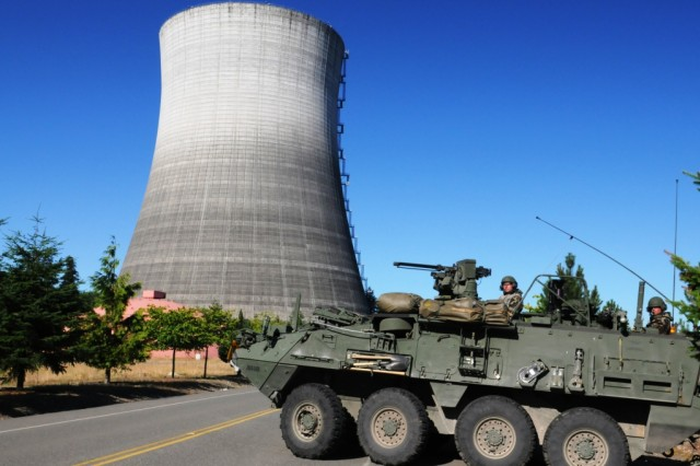 Hazardous response platoon trains at unfinished nuclear power plant