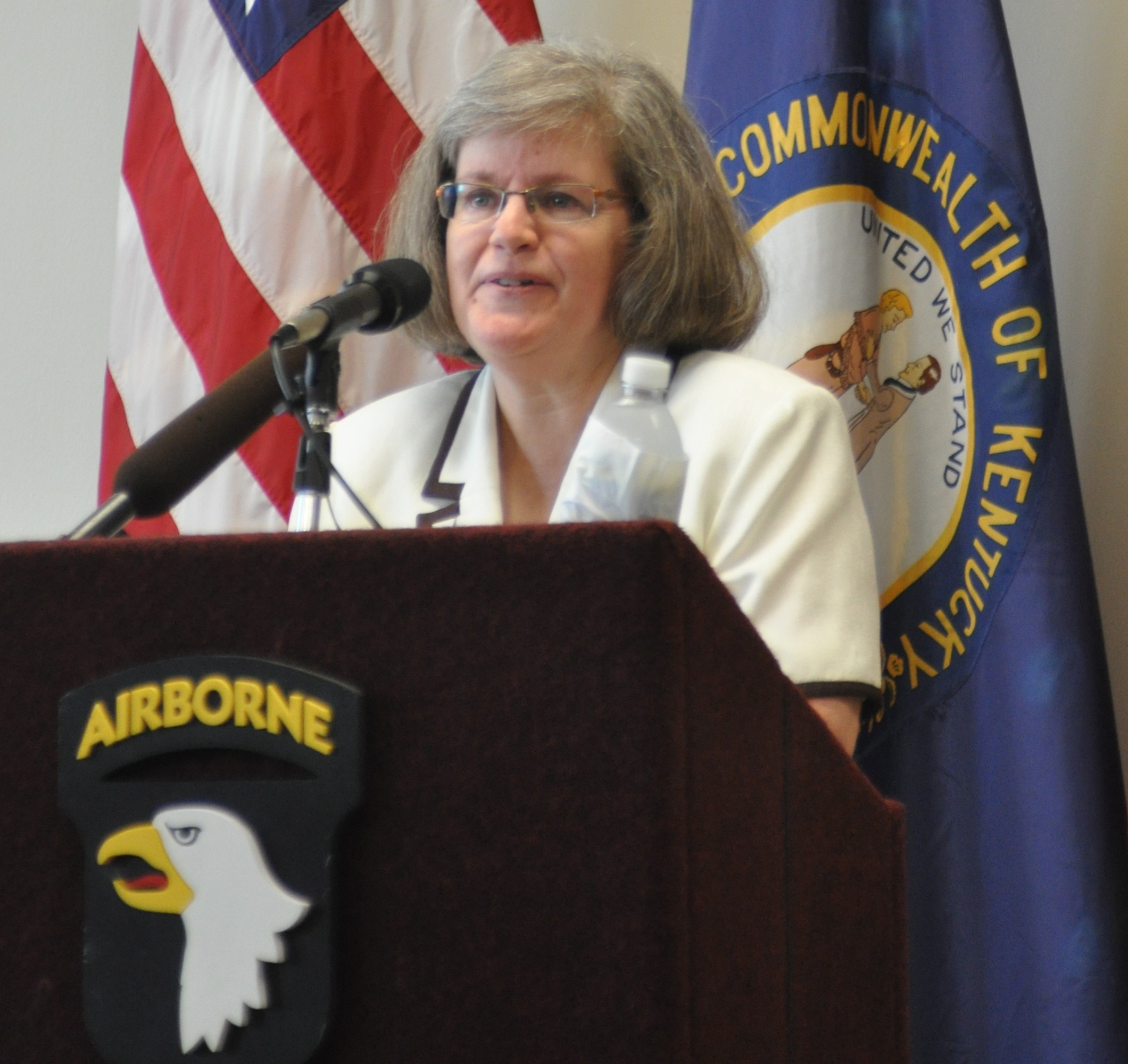 Holly Petraeus promotes consumer protection at Fort Campbell