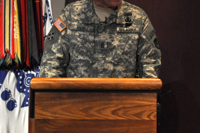 Command Sergeant Major Ronald T. Riling